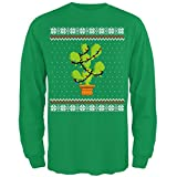 Old Glory Kaktus Feigenkaktus Baum Hässlich Weihnachten Pullover Mens Long Sleeve T Shirt Irish Green MD