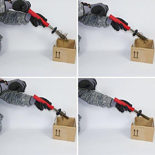 Magnetwerkzeug / Werkstattmagnet / Spanmagnet zur schnellen und sicheren Entfernung von Eisenteilen wie Drehspäne, Frässpäne, Sägespäne etc. aus Eisen und Stahl - 4