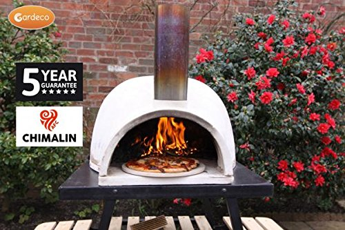 Traditional Outdoor Wood Burner Natural Clay Dome Shaped Pizza Oven With Funnel
