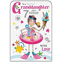 Granddaughter 7th Birthday Card