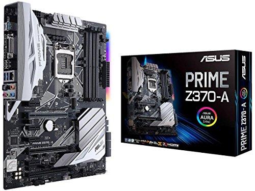 Asus Prime Z370-A Gaming Mainboard Sockel 1151 (ATX, Intel Z370, Coffeelake, 4x DDR4-Speicher, USB 3.1, M.2 Schnittstelle) (Motherboard 8 Sata)