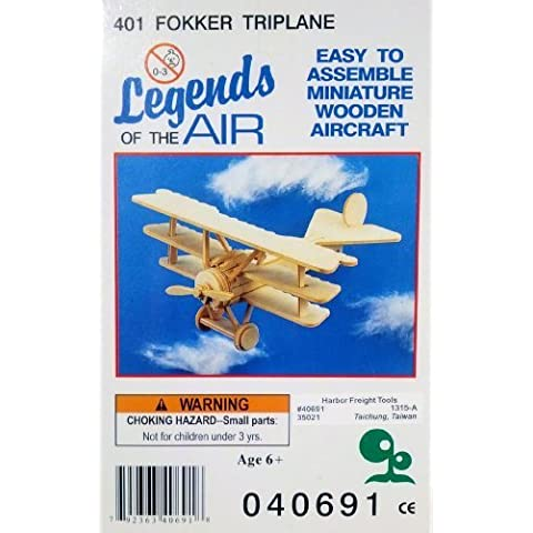 Legends of the Air Miniature Wooden Aircraft - 401 Fokker Triplane by Legends of the Air