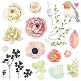 Patches Zum Aufbügeln, Zarupeng 25 Stück Patches DIY Blume Aufnäher Applikationen Zum Aufbügeln für Kleidung T-Shirt Jeans Pullover Tasche (24 x 22.5 cm, Mehrfarbig)