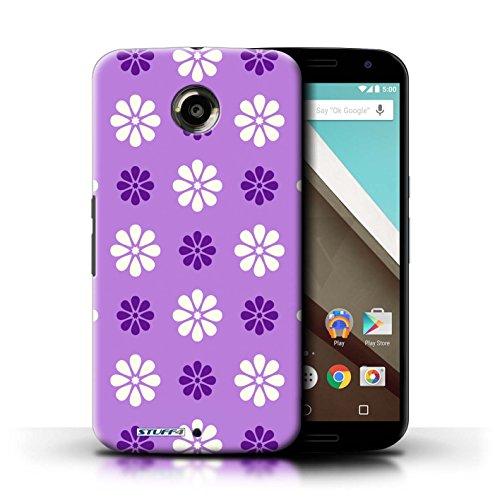 Kobalt® Imprimé Etui / Coque pour Motorola Nexus 6 / Rose conception / Série Motif avec pétales Violet