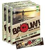 Baouw! Organic Nutrition - QUINOA PISTACHE CITRON VERT - Barres nutritionnelles & énergétiques salées aux légumes 100% bio pour le sport ou un encas sain - vegan - sans gluten - crues -12 barres x30g