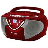 Roadstar RCR-4650USMP Enregistreur radio stéréo Lecteur CD/MP3 USB/SC/MMC Rouge