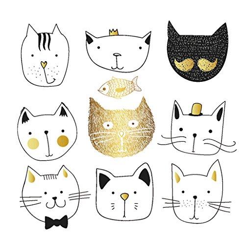 Jiamins 1 Stück Patch Sticker - Süße Katze, DIY Druck Stickerei Applikation Für Decoreting Und Patching Jacket,T-Shirt,Hut,Kleid (19.7x20.1cm) (7.75 Hut)