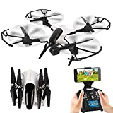 DAYE Foldable Drone with Camera 1080P HD WIFI RC Drone Quadcopter for Adults