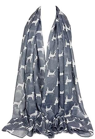 GFM Animal Print Scarf : Labrador Dogs (LBDG-01-BH)(N)