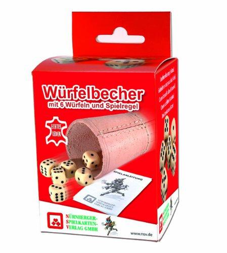 NSV-8004-WRFELBECHER-mit-6-Wrfeln-und-Anleitung-in-der-Faltschachtel-leder-Wrfelspiel