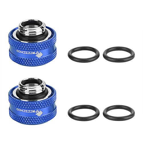 Semme Raccord de Refroidissement par Eau, 2 Pcs/Pack Raccord de Compression pour Tube Acrylique Rigide OD 12mm(Blue)