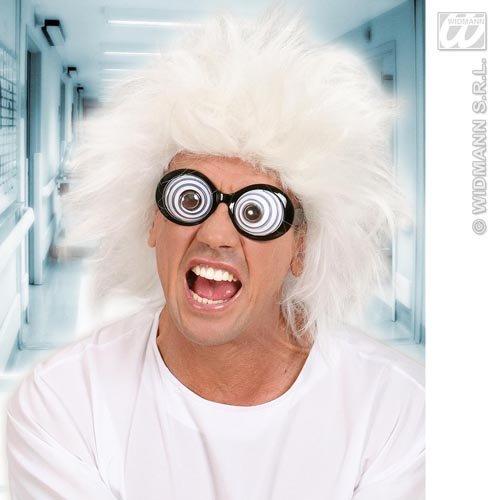 Mad Professor weiß Perücke Wissenschaftler Doc braun Fancy Dress