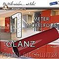 Klebefolie Möbelfolie GLANZ Bordeaux 3121 PREIS TIP ! (1 Meter x 61 Zentimeter) von Folien-Discount24 - TapetenShop
