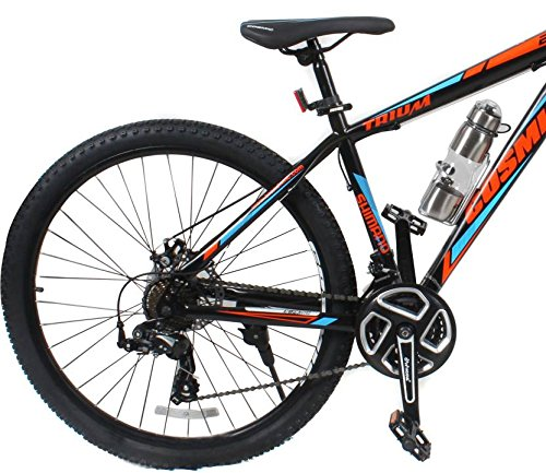 eddf438dbc3 Buy Cosmic Trium 27.5 Inch Mtb Bicycle 21 Speed Hybrid Cycle (Black:Blue) on  Amazon | PaisaWapas.com