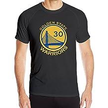T&Tat Mens GS Warriors Stephen Curry 30 Steph Winner Quick Dry Athletic Tshirt
