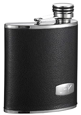 Visol Zen Synthetic Leather Stainless Steel Wide Mouth Flask, 6-Ounce by Visol
