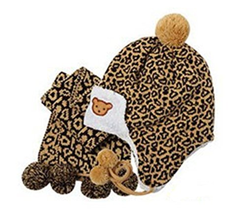 SaySure - Baby Winter Hat Child Hat Leopard Print Hat