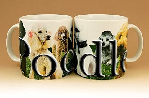 Americaware, My Pet Mug, Best Friend Series, Poodle, Raised Lettering, 18 oz. by Americaware