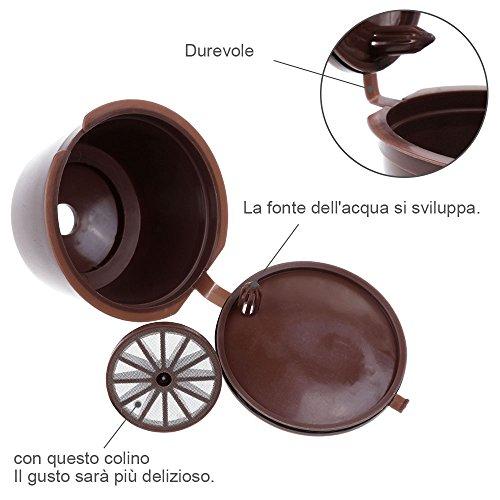 ^ Lictin Capsule per caffè ricaricabili capsule dolce gusto, 3 tazze +Cucchiaio di plastica + Spazzola prezzo