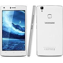 """Doogee X5 Max Pro - Smartphone móvil libre 4G (Android 6.0, Pantalla 5.0"""", Quad Core, 16GB ROM, 2GB RAM, Dual SIM, Sensor de huellas dactilares, E-Compass), Blanco"""