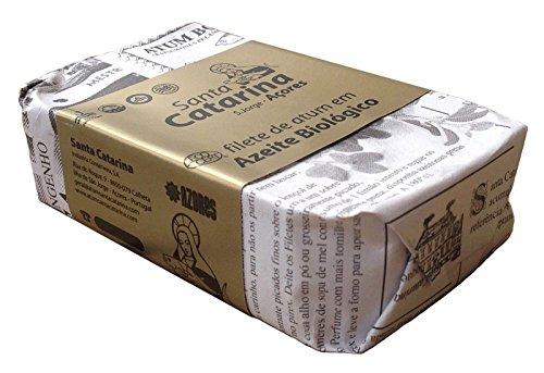 Preisvergleich Produktbild Thunfischfilet in Bio Olivenöl 120 g,  Portugal,  Santa Catarina