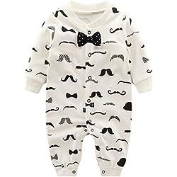Baby Jungen Strampler Spielanzug Schlafanzug Säugling Baumwolle Overalls Baby-Nachtwäsche, 3-6 Monate