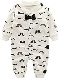 Pyjama Bébé Filles Garçons Combinaisons en Coton Grenouillères Bodys à Manches Longues Cartoon Outfits