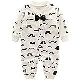 Neugeborene Jungen Strampler Baby Spielanzug Schlafanzug Säugling Baumwolle Overalls, 0-3 Monate