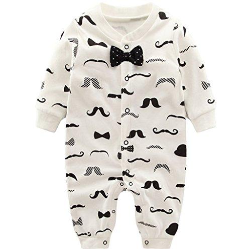 Pyjama Bébé Garçons Combinaisons en Coton Grenouillères Bodys à Manches Longues, 9-12 Mois
