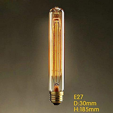 e27 AC220-240V 40w Seide Kohlefaden-Glühlampen t185 um Perle