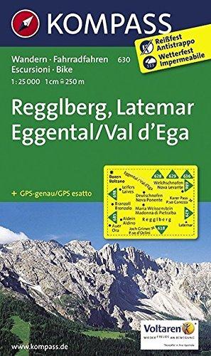 Regglberg - Latemar - Eggental / Val d'Ega 1 : 25 000: Wanderkarte mit Radtouren. GPS-genau