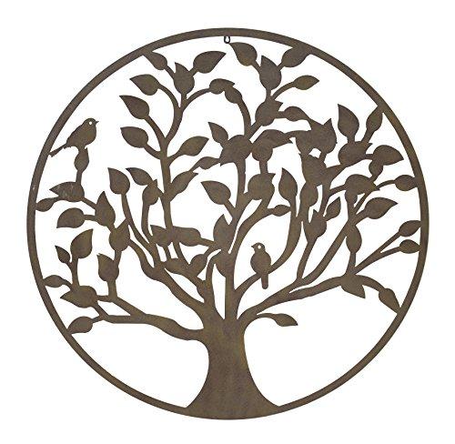 Metall Wand-Bild Baum XXL
