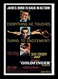 Pyramid International James Bond Goldfinger gerahmtes Filmplakat