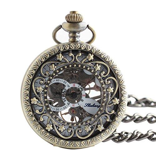 OrrOrr Taschenuhr Handaufzug Halb Automatik Mechanisch Herrenuhr Kette Geschenk Gift Watch reloj de montre de F080