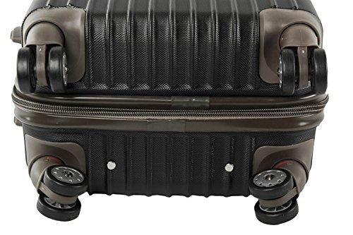 3 Maletas rígidas PIERRE CARDIN negro cabina para viajes S187