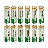 Dailyinshop 12 pcs AA LR06 1.2V 3000mAh Ni-MH batería de reemplazo Celular RC bty Nueva