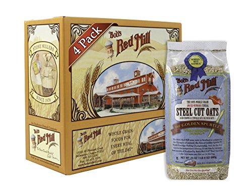 Image of Bobs Red Mill Stahl geschnitten Hafer 24 Oz, Packung mit 4 St-ck