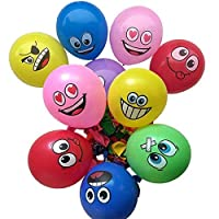 """100PCS 12"""" Universe Emoji Balloons Smiley Face Expression Latex Balloons for Party Decorations Birthday Wedding Balloons"""