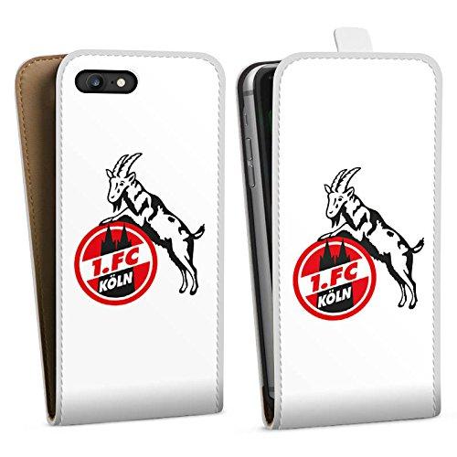 Apple iPhone X Silikon Hülle Case Schutzhülle 1. FC Köln Fanartikel Fußball Downflip Tasche weiß