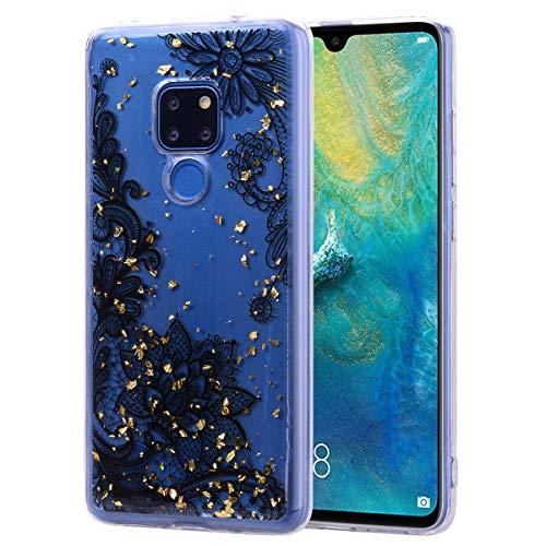 Preisvergleich Produktbild Transparent Schön Dünn klar Bling Glitter TPU für Huawei Mate 20 Pro