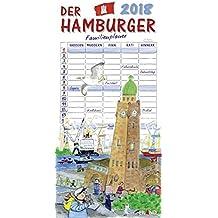 Der Hamburger 2018: Familienplaner für bis zu 5 Familienmitglieder.