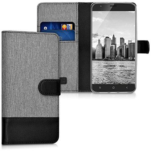 kwmobile Blackview E7 / E7s Hülle - Kunstleder Wallet Case für Blackview E7 / E7s mit Kartenfächern und Stand