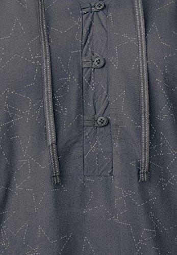 CECIL Damen Weiche Bluse mit Sternmuster dark silver (silber)