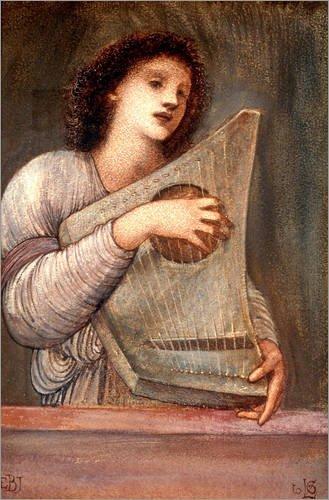 Forex-Platte 60 x 90 cm: Musikantin von Edward Burne-Jones / akg-images
