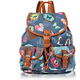 Vintage Owl Dachshund Sausage Dog Vintage Owl London Scotty Dog Polka Dot Design Canvas Retro Classic Backpack Rucksack School Bag College Shoulder Bag Hiking Gym Casual