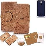 K-S-Trade Schutz Hülle für Emporia SMART.2 Handyhülle Kork Handy Tasche Korkhülle Schutzhülle Handytasche Wallet Case Walletcase Flip Cover Smartphone Handyhülle