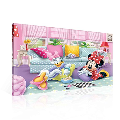 Disney Minnie Maus Daisy Duck Leinwand Bilder (PPD1445O1FW) - Wallsticker Warehouse - Size O1 - 100cm x 75cm - 230g/m2 Canvas - 1 Piece