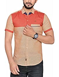 PP Shirts Beige Coloured Casual Shirt ( PP1217113)