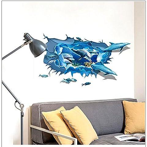 MALUZI Regali di natale Dolphin cluster di noi la migliore casa decorare le pareti ,60*90cm sticker