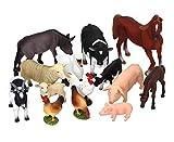 Betzold 58449 – Bauernhof Tiere, 14-tlg. Set – Tierfiguren Sortiment, Spielfiguren für Kinder, Farm